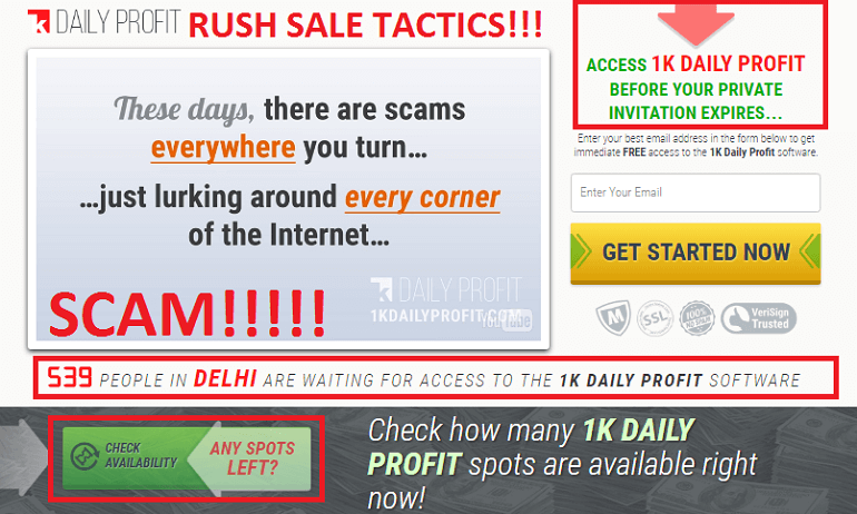 1k Daily Profit scam