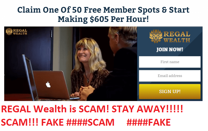 regal wealth scam