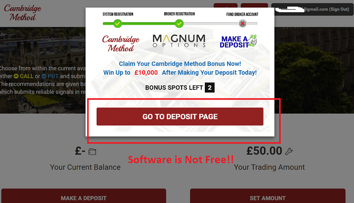 cambridge method software is not free