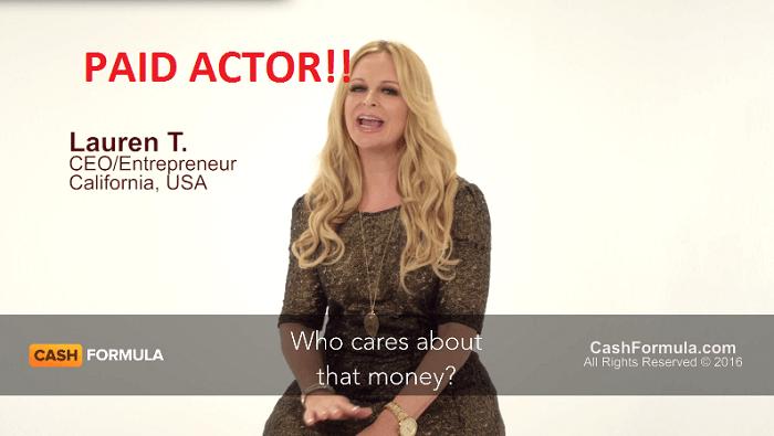 cash formula fake actor