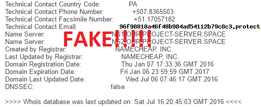 pure profits system fake registration details