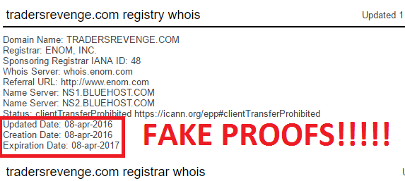 traders revenge fake registration details