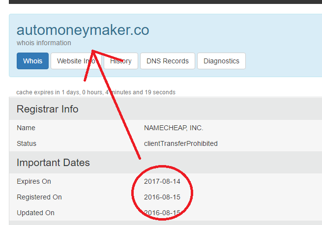 auto money maker website registration date