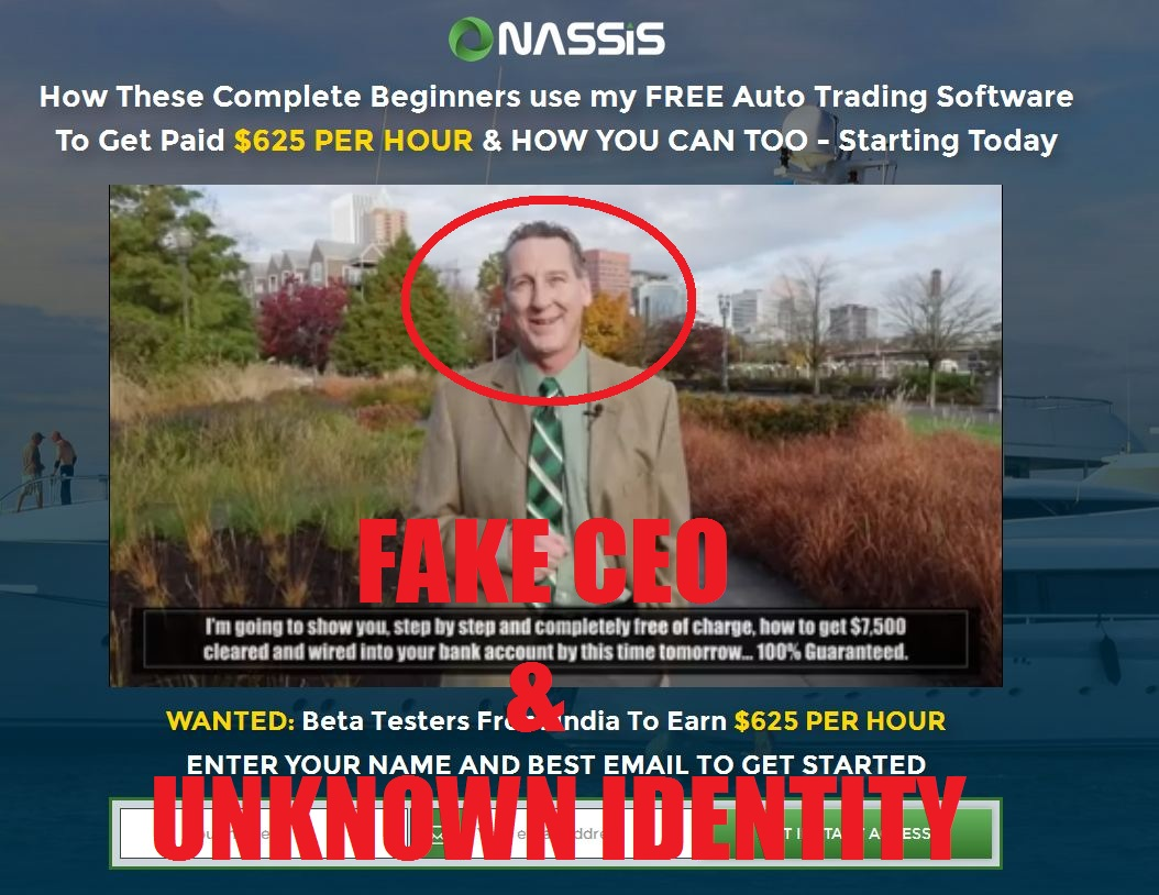 onassis alliance fake ceo