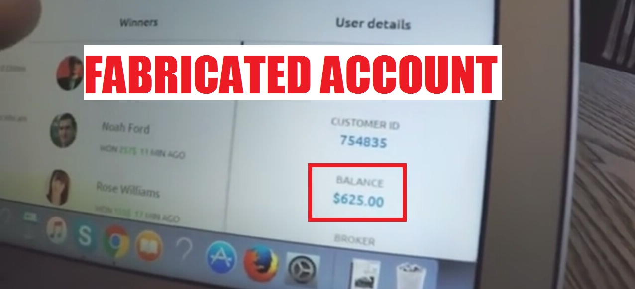 fake account balance
