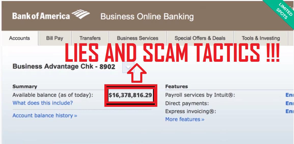 fake bank balance