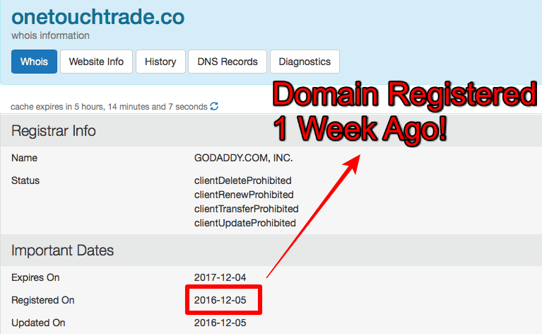 domain registration date