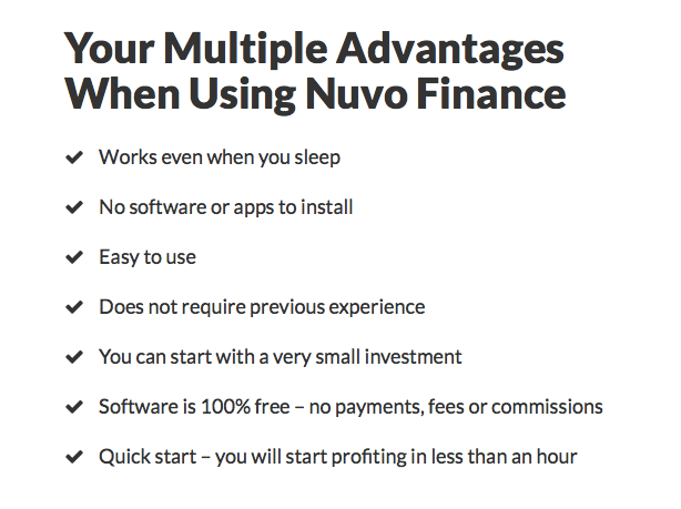 nuvo finance advantages