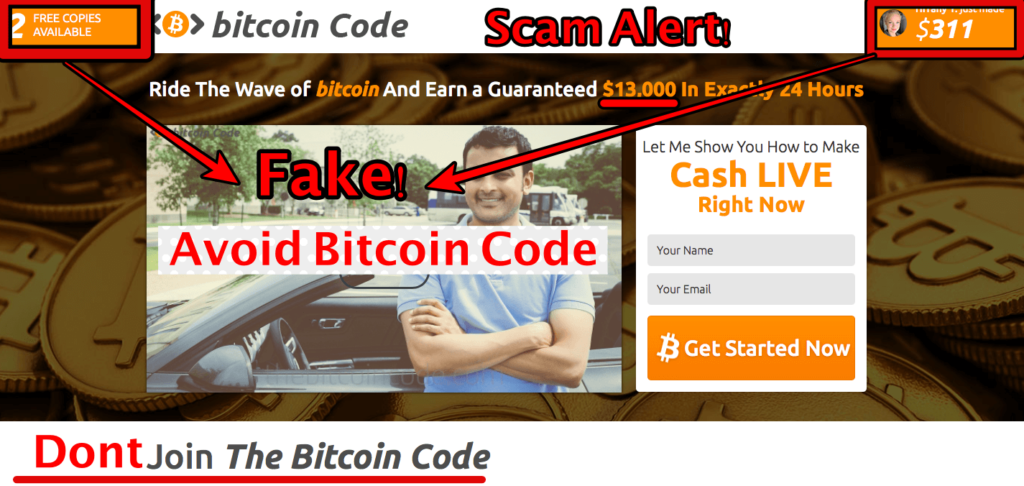 estafa Bitcoin Code