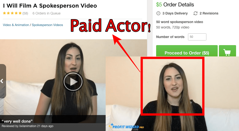 girl paid actor