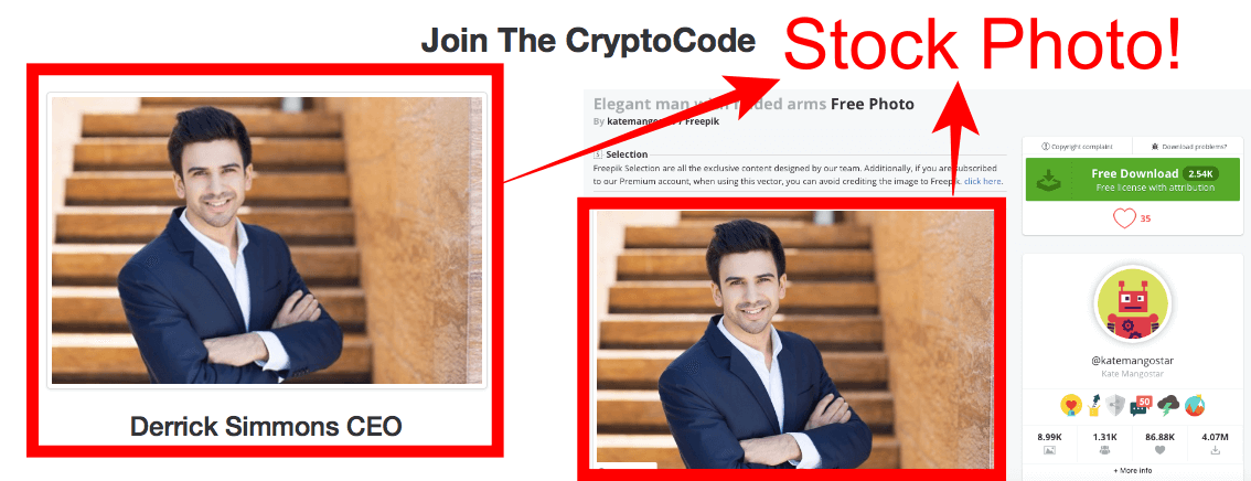 fake ceo of crypto code