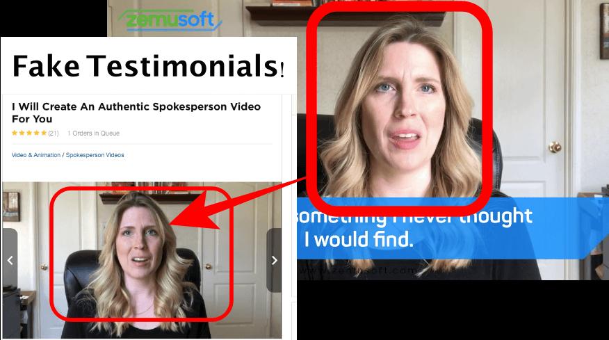 fake testimonials zemusoft