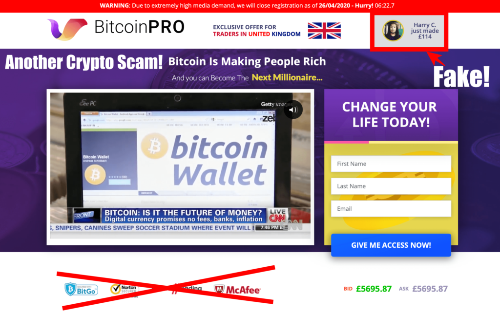 bitcoin pro scam review