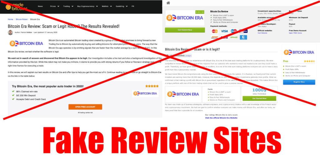 bitcoin era fake reviews