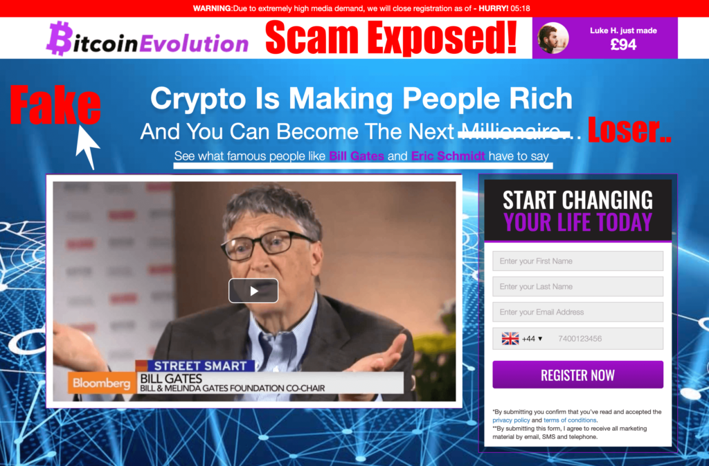 bitcoin evolution scam review