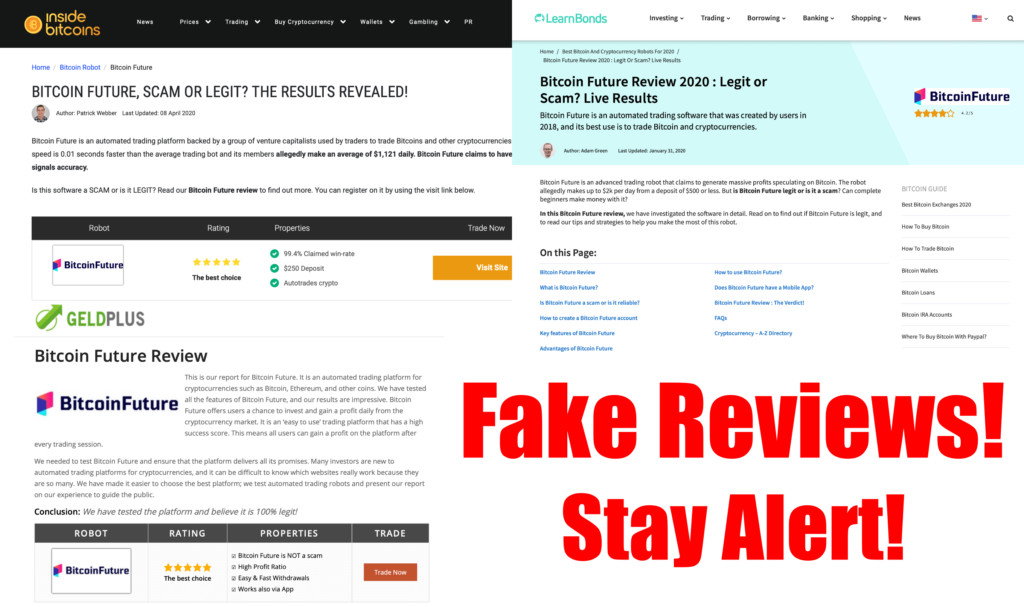 fake reviews of bitcoin future