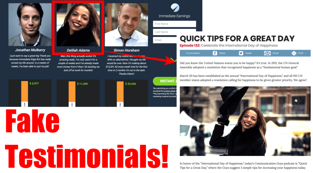 fake testimonials of immediate edge