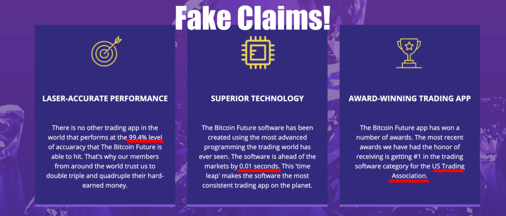 false claims of bitcoin future