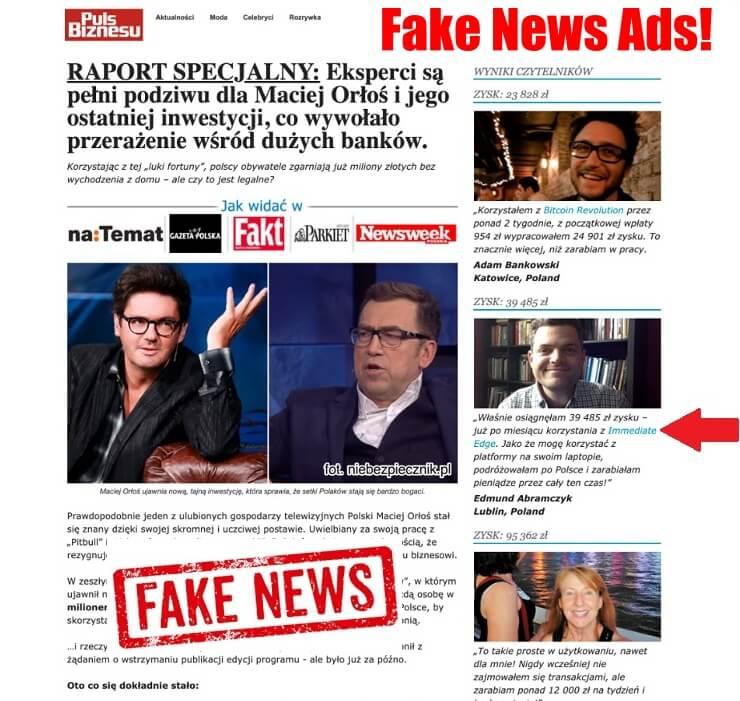 immediate edge fake news