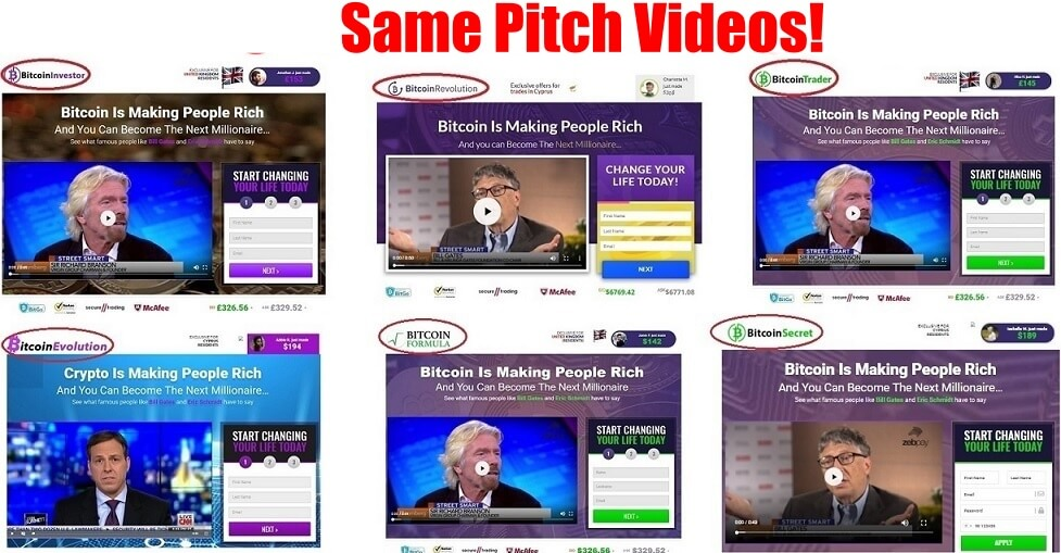bitcoin future scam similar pitch videos